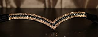 Equipride Beautilful Curve Forme Bling Cristal frontal Paillette Bleu roi