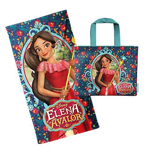 Karactermanía Set con Bolsa de Playa y Toalla Estampado Elena de Avalor, Algodón, Multicolor, 30x35x5 cm