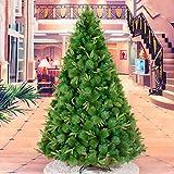 ZLJ Árbol de Navidad sin iluminación ecológico árbol de Navidad Artificial de 150 cm de Abeto Premium con bisagras con Soporte de Metal Plegable y fácil Montaje para decoración navideña Verde