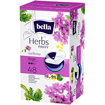 Bella Herbs Panty Liners Verbena Large 48 Pieces