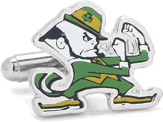 NCAA Notre Dame University Fighting Leprechaun Cufflinks, Officially Licensed
