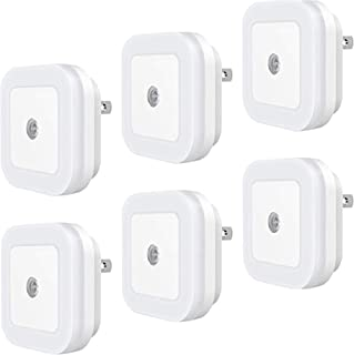 Plug-in LED Night Light with Smart Dusk to Dawn Sensor (Pack of 6) – Auto On/Off, Energy Efficient - Soft White Nightlight...