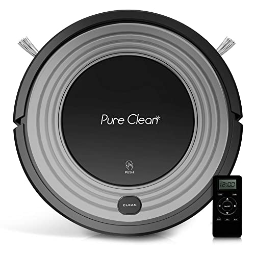 Automatic Programmable Robot Vacuum Cleaner - Robotic Auto Home Cleaning for Clean Carpet Hardwood Floor w