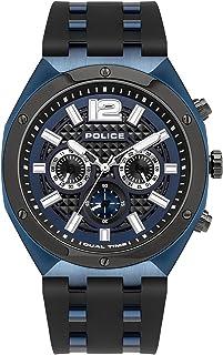 Police Watches kediri Mens Analog Quartz Watch with Silicone Bracelet PL.15995JSBLU-03P