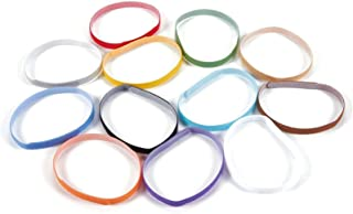 Juvale Puppy ID Bands - Pack of 12 Whelping Litter Adjustable Velcro Collars in 12 Colors Newborn Pet Dogs Cats