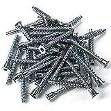 100 Stück SO-TECH® Schrankverbinder Schraube Schrauben für Korpusverbindung Möbel Eckverbindung 6,3 x 50 mm | Eisen verzinkt | Antrieb: Inbus (HEX 4)