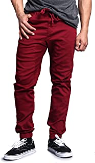 Victorious Men's Drop Crotch Joggers Twill Pants
