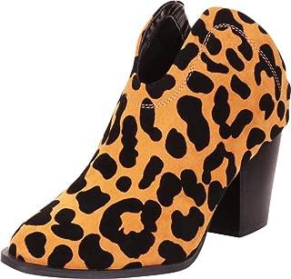 Cambridge Select Women's Western Pointed Toe Open Back Slip-On Chunky Block Mid Heel Mule Shootie