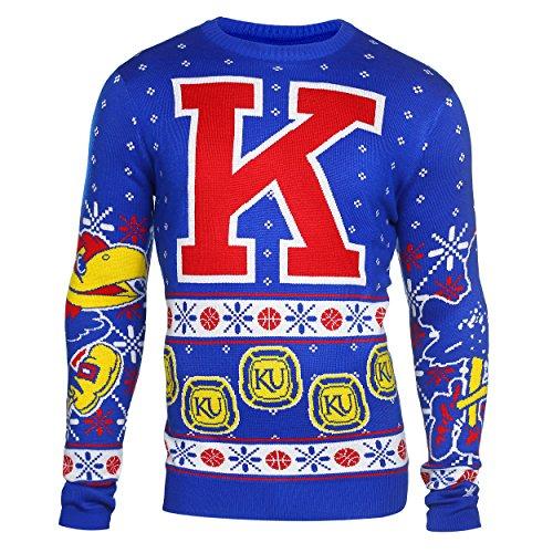 Kansas Jayhawks 5 Time National Champions Ugly Holiday Sweater