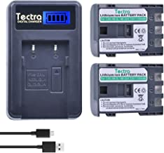 Tectra 2-Pack NB-2L NB-2LH Battery + Rapid LCD Display USB Charger for Canon PowerShot G7 G9 S30 S40 S45 S50 S60 S70 S80 DC410 DC420 VIXIA HF R10 HF R100 HF R11 EOS 350D 400D Digital Rebel XT XTi