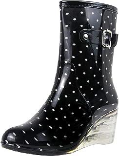 bottes femme de pluie à pois