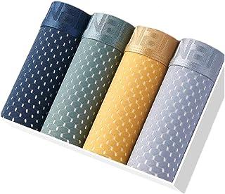 Men Comfort Ultra Soft Breathable Transparent Modal Blend Boxer Brief 4-Pack