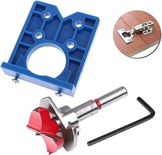 Concealed Hinge Jig Drill Guide Sets 35mm Hinge Boring Jig Hinge Hole Saw Jig Forstner Bit Positioner Hole Puncher Locator...