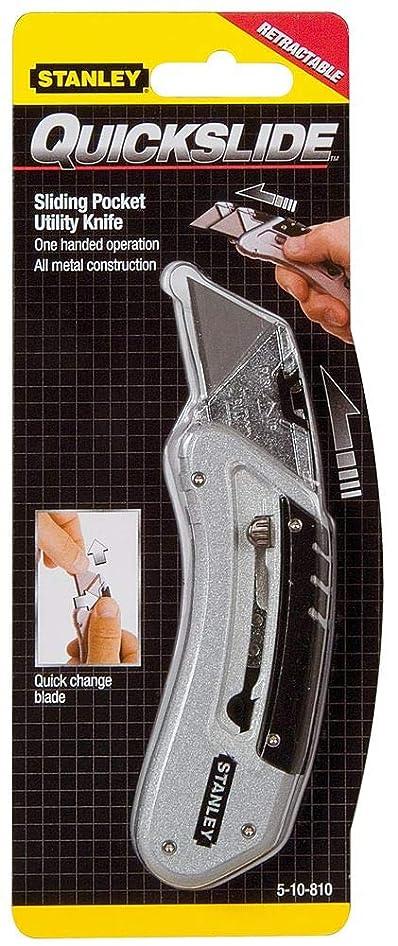 記事キャプテンブライ歴史Stanley Quickslide Pocket Knife All-metal with Belt Clip Ref 0-10-810