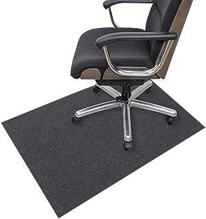 Zinn Alfombra multiusos para silla con ruedas, alfombrilla de protección para suelos de madera dura, 10 mm de grosor, antiarañazos, movimiento suave
