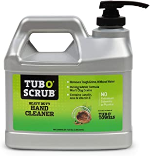 Tub O Scrub Heavy Duty Hand Cleaner, Removes Tough Grime, Grease & Dirt, Pumice-Free, 64 oz. Pump Jug