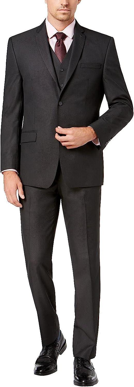 Adam Baker Men's Classic Fit 3-Piece (Jacket, Vets, Trousers) Vested Suit Set - Many Sizes & Colors Available