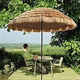 Gartenstroh Sonnenschirm, Hawaii Strand Sonnenschirm, Terrasse Sonnenschirm, 2,5 M Runder Sonnenschirm Mit Stroh Bedeckt, Ohne Basis