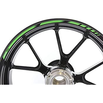 Nero Lucido Ruote Moto Cerchione Inner Rim Tape Decalcomanie Adesivi per Kawasaki ZX6R
