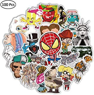 Colorful Graffiti Stickers (100 pcs) for Car Motorcycle Bicycle Luggage Graffiti Patches Skateboard Wall Decals (C)