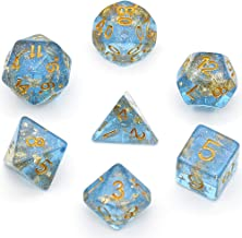 UDIXI Polyhedral DND Dice Sets Shimmer Gold Foil Dice for Dungeons and Dragons Pathfinder RPG MTG Table Gaming Dice