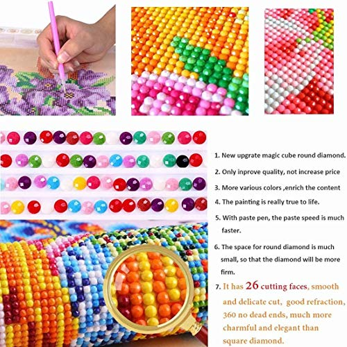 DIY 5D Diamond Painting Full Drill Diamond Embroidery Kit Rhinestone Painting Cross Stitch Kit Wall Art Decor 5D Diamond Painting by Number Kits Home Decor vase 30x40cm