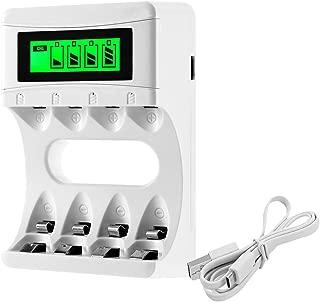 BONAI 電池充電器単体 液晶ディスプレイ 急速充電器 単3形・単4形対応 4本同時充電可能【180日間品質保証】