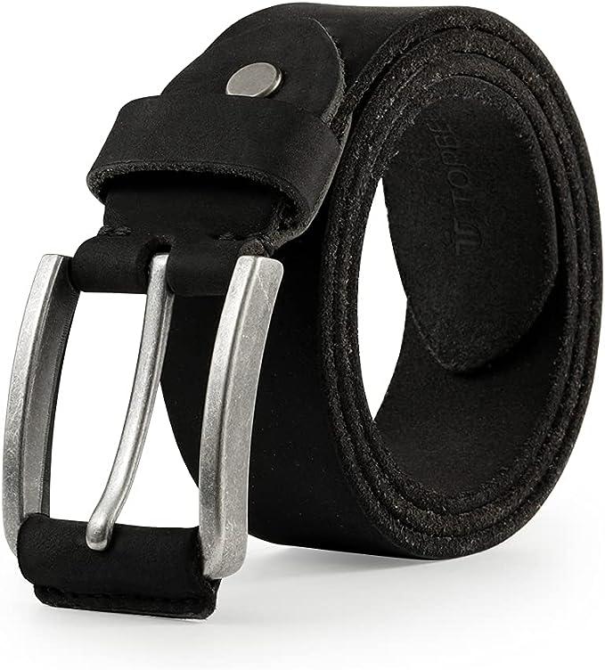11 opinioni per TOPBELT Cintura Uomo Pelle Vera Garantito Cinta Cinture 110-160cm Grande Taglia