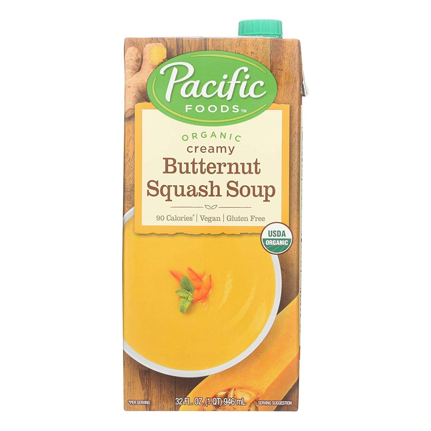 Pacific Natural Direct stock discount Foods Creamy Butternut Max 63% OFF Squash Oz Fl 32 Soup Pa