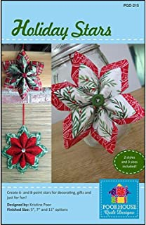Poorhouse Quilt Designs Holiday Stars Ptrn