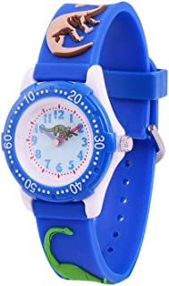 Wolfteeth Wrist Watch for Kids Boys Watch Waterproof Second Hand 3D Dinosaur Watch Band 3059