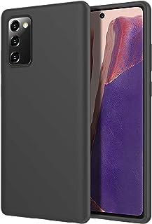 Rock Samsung Galaxy Note 20 Case, Slim Liquid Silicone Rubber Shockproof Soft Microfiber Cloth Lining Cushion Cover (BLACK)