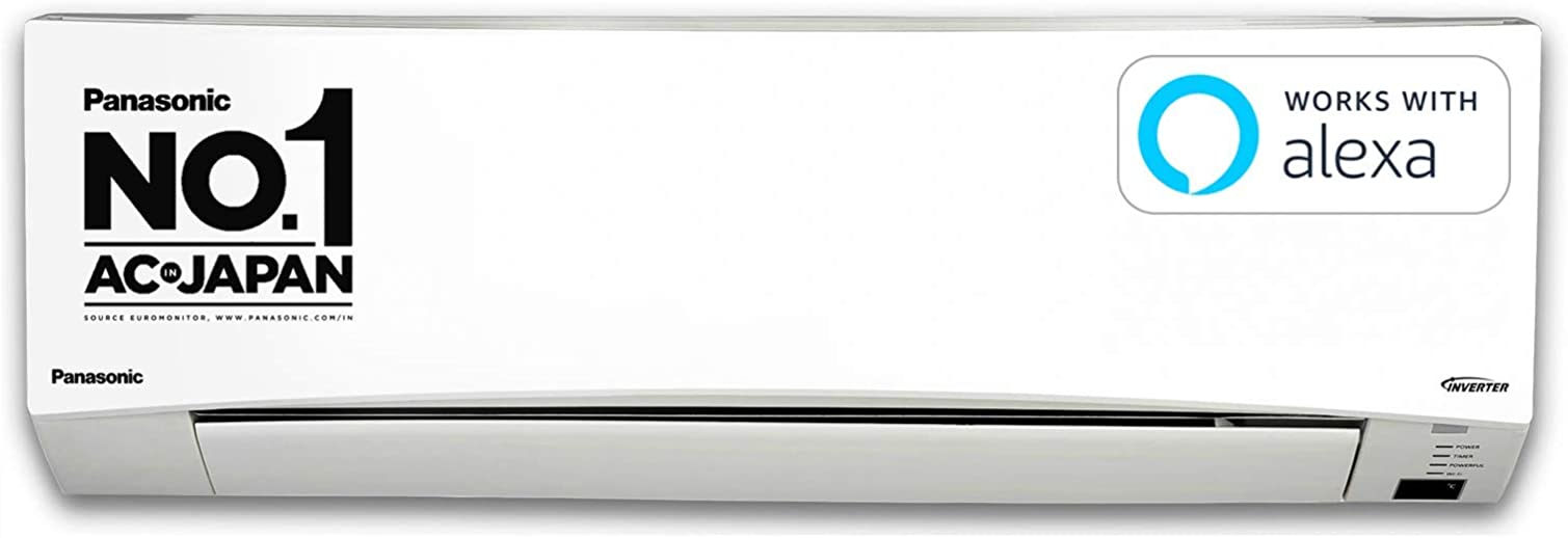 Panasonic 1.5 Ton 3 Star Wi-Fi Twin-Cool Inverter Split Air Conditioner (Copper, Shield Blu Anti-Corrosion Technology, PM 2.5 Air Purification, 2021 Model, CS/CU-SU18XKYTW, White)