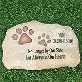 somiss Pet Memorial Stones,Personalized Dog Memorial Stones All...