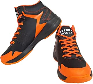 Vector X Boost Basketball Shoes, (Black/Orange)