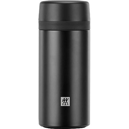 Zwilling ツヴィリング 「 ストレーナー付ボトル 420ml ブラック 」 ストレーナー 茶こし マグ ボトル 水筒 ステンレス 保冷 保温 【日本正規販売品】ZWILLING THERMO 39500-512