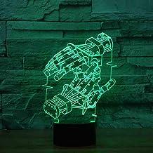 RJGOPL 7 kleuren Change Home Decor Bedside Robot Hand modeling LED nachtlicht 3D USB Table Lamp Lighting Child Birthday Gift