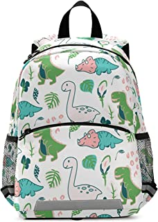 Cute Dino Animal Toddler Backpack for Boys Girls Preschool Bag with Safety Leash