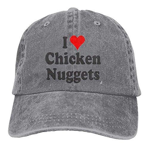 fdgjydjsh I Love Chicken Nuggets Denim Hat Adjustable Mens Classic Baseball Caps