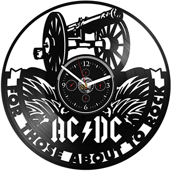 Clock AC DC Vinyl Wall AC DC Gift Vinyl Wall AC DC Vinyl Wall Gift For Man AC DC Record Wall Large AC DC Birthday Gift ACDC Gift For Dad 12 Inch