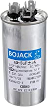 BOJACK 40+5uF 40/5MFD ±5% 370V/440V CBB65 Dual Run Circular Start Capacitor for AC Motor Run or Fan Start or Condenser Straight