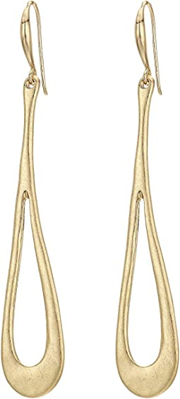 Sculptural Loop Long Stick Drop Earrings