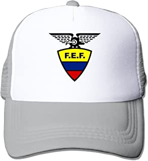 Causal 2016 Copa America Ecuador National Football Team Logo Adult Nylon Adjustable Mesh Hat Plain Hat Black One Size Fits Most