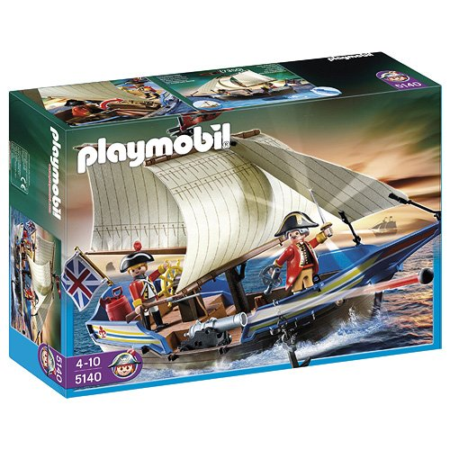 PLAYMOBIL - Barco de los Soldados, Set de Juego (5140)