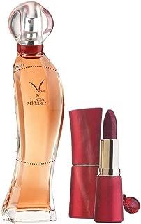 Armand Dupree Vivir by Lucia Mendez 2-piece Fragrance Gift Set (Lipstick Color: Scandalous)