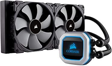 Corsair Hydro Series H115i Pro - Refrigerador líquido de CPU, Radiador de 280 mm, dos ventiladores PWM de 140 mm Serie ML, Iluminación RGB, compatible con Intel 115x / 2066 y AMD AM4, negro