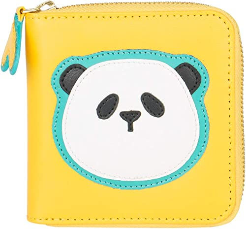 Panda Face Mini Wallet Yellow