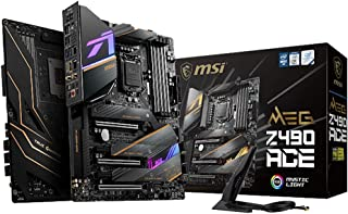 MSI MEG Z490 ACE ATX Gaming Motherboard 120GB DDR4 ATX 4xDIMM M.2 SATAIII RAID 1xDP 1xHDMI 3xPCIE 6xUSB Crossfire RGB WIFI...