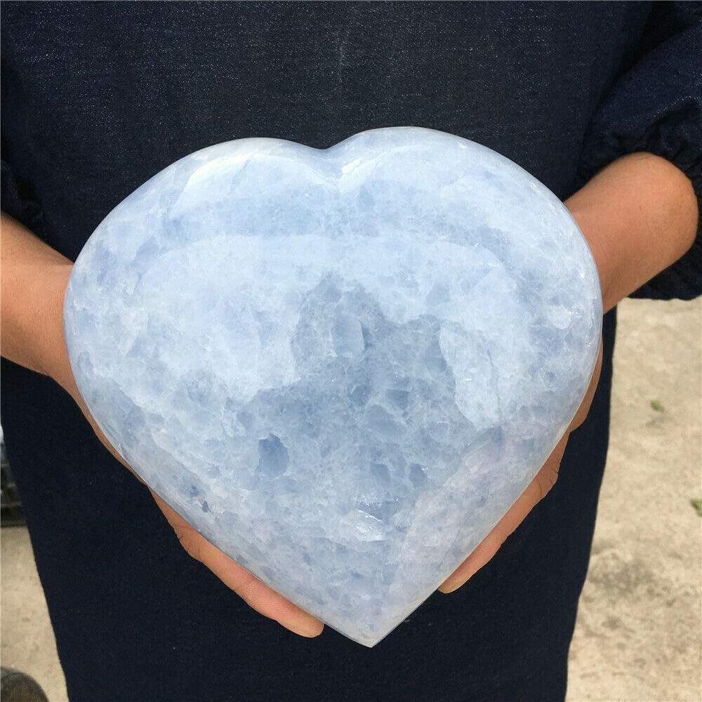 Ranking TOP12 5.32lb Natural Blue Calcite Quartz Healin Heart Crystal Ranking TOP19 Specimen
