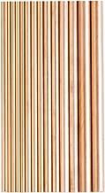 Eowpower 15Pcs Dia 2-8mm Brass Round Rods Bar Assorted for DIY Craft